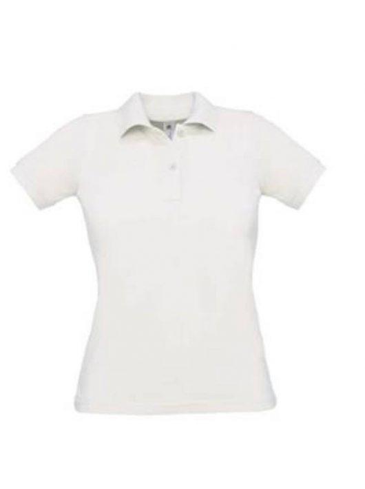 B&C Safran Pure Women galléros póló - fehér