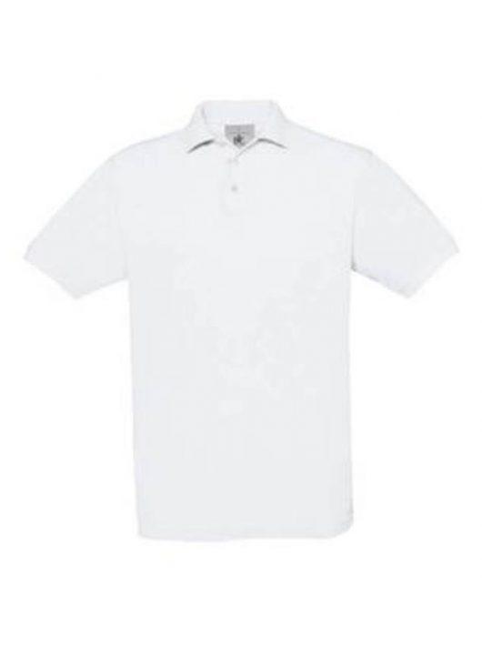 B&C Safran Unisex galléros póló - fehér