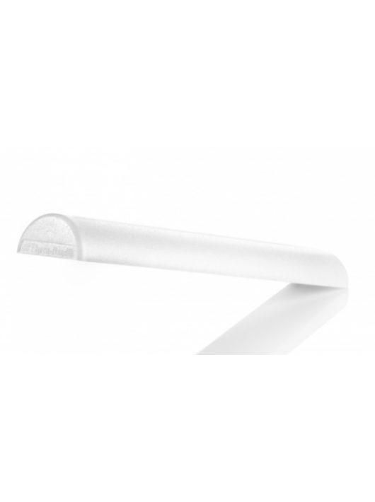 Félhenger Párna 65 cm - fehér műbőr levehető huzattal